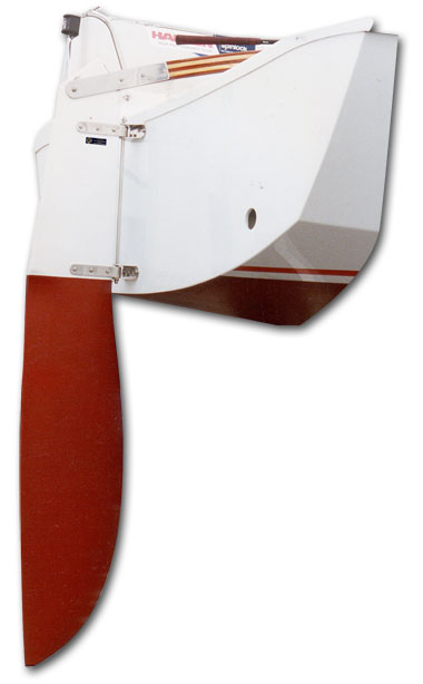 Racing yacht rudder