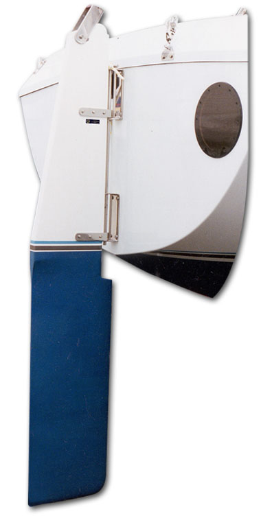 racing and cruising yacht rudder